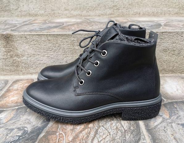 41 р. оригинал кожаные демисезонные ботинки ecco crepetray hybrid