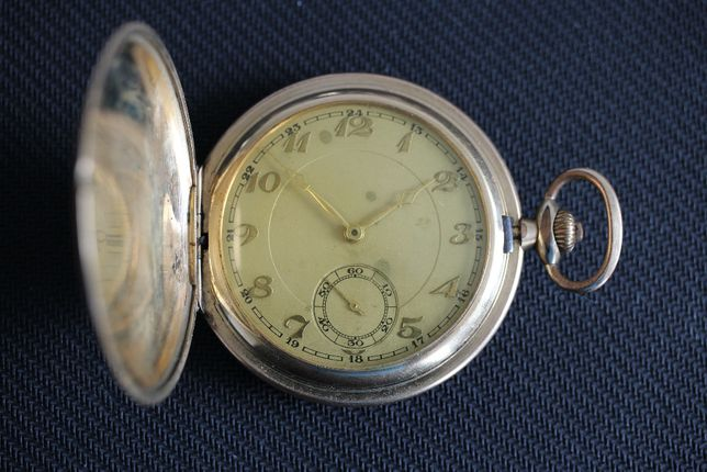 Zegarek kieszonkowy savonette pozłacany
