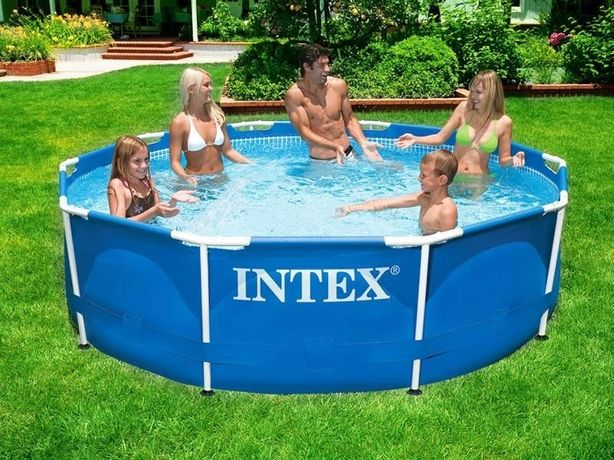 Каркасный круглый бассейн басейн Intex 305х76 см (насос,тент,подстилка