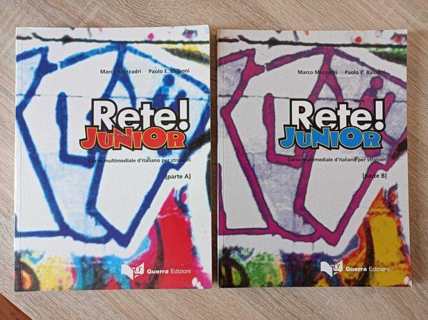 Rete! junior - parte A, parte B corso multimediale d'italiano