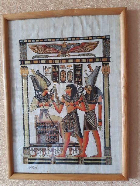 Папирус под стеклом, афростиль , декор на стены,подарок