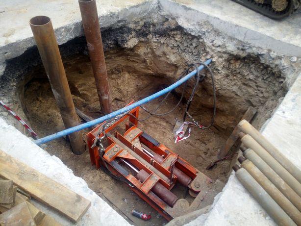 Przyłącza wodno-kanalizacyjne Przepychy pod drogą Usługi minikoparka