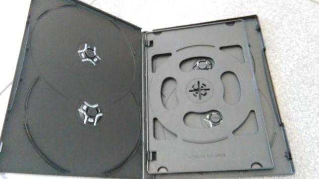 PACK 5 Caixas dvd para 6 dvds - Lombada 14mm