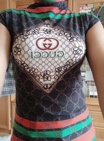 Nowa bluzka z napisem Gucci super jakość s/m