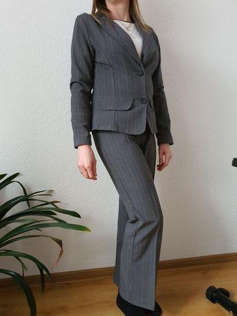 Kostium garnitur damski żakiet spodnie 36 S 158cm