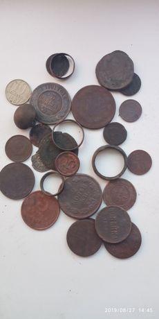 Лот медных монет. Копані монети. Копаные монеты