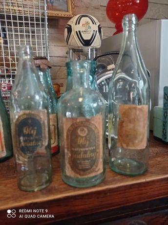 Stare butelki po oleju jadalnym zestaw