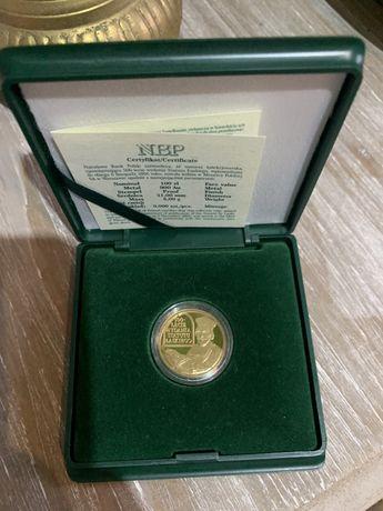 Moneta złota 500 lecie wydania statutu łaskiego