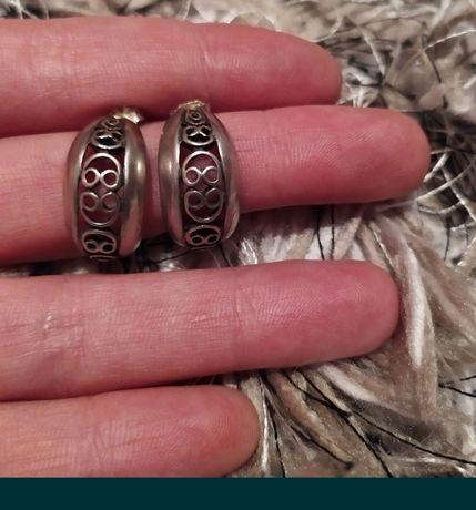 Stare kolczyki srebrne warmet