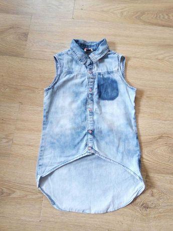 Джинсова рубашка блузка жилетка кофта