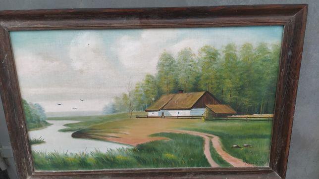 Stary obraz cena 100 zł