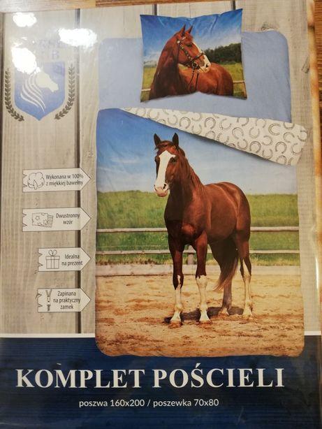 Komplet pościeli Konie, nowa, 100% bawełna. Oryginał