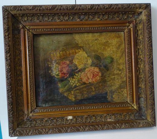 Obraz olejny sygnowany 1896 rok