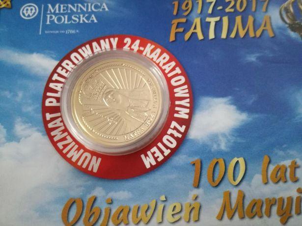 Moneta 100 lat Objawienie Maryi numizmat mennicy polskiej