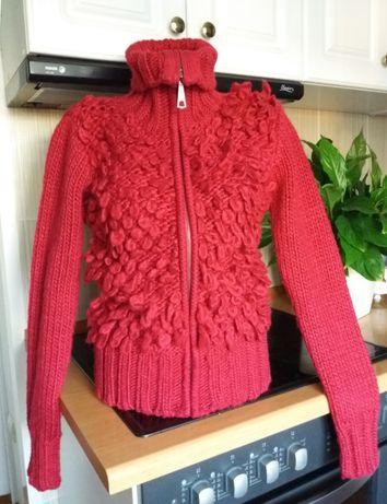 Теплый бомбер, свитер на молнии, высокий воротник