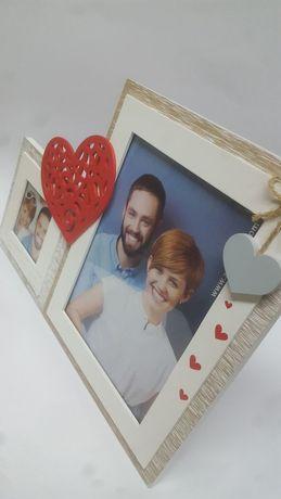 Fantástica Moldura Dupla 3D em madeira Namorados Casal Amor