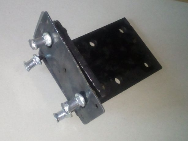 Кронштейн Уголок мебельный металлический с крепежом и прижимной планко
