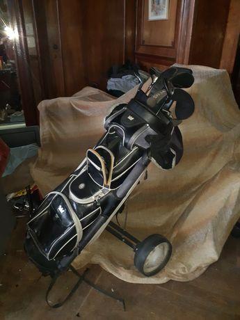 Zestaw do golfa torba wózek kije golfowe 8 sztuk