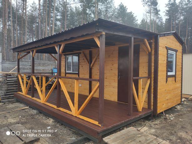 Каркасный деревяный дом 6-5