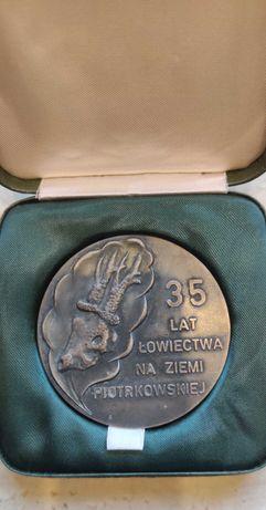 Medal, plakieta 35 lat łowiectwa na ziemi piotrkowskiej PZŁ