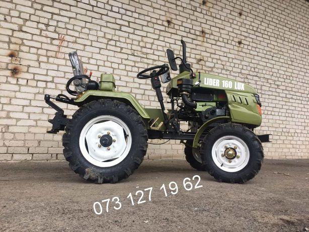 Трактор ЛІДЕР 160 ЛЮКС,Фреза+2к Плуг,Минитрактор,Мототрактор,АКЦІЯ,