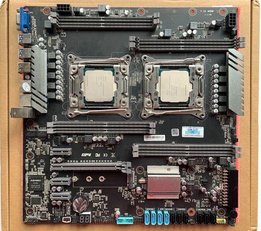 Комплект(24 ядра/48 потоков) - Dual Xeon E5-2678V3 /Jingsha X99
