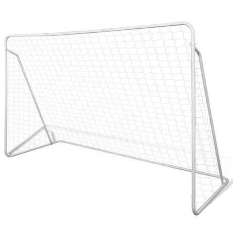 vidaXL Baliza de Futebol, de Aço, 240 x 90 x 150 cm, de Alta Qualidade 90572