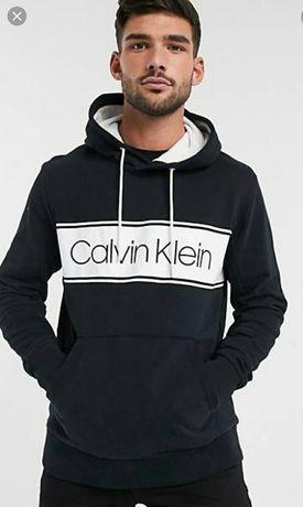 Bluza męska z kapturem oryginalny Calvin Klein M L nowa połowa ceny
