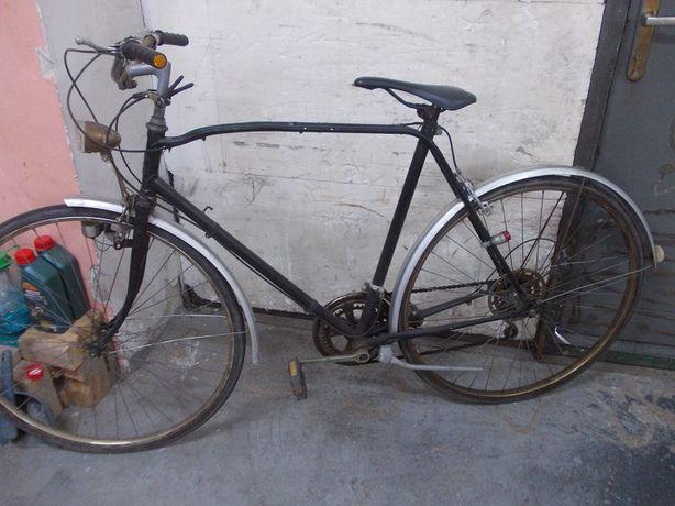 Stary oldskulowy rower , podwójna rama