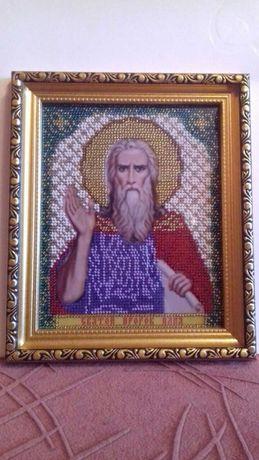 Вышивка из бисера Пророк Илья (новая)