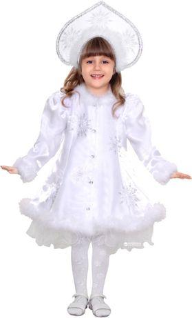 Карнавальный костюм платье снегурочки purpurino