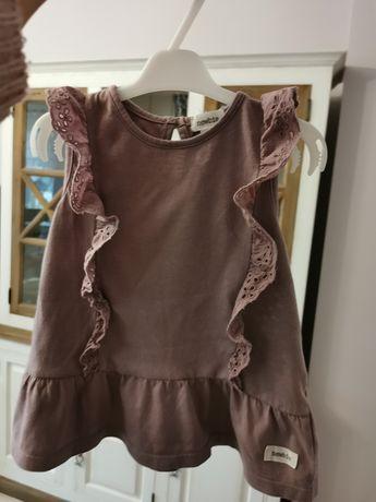 Śliczna fioletowa bluzeczka Newbie r 86, stan bardzo dobry