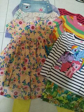 Paczka ubrań zestaw ubrań rozmiar 116