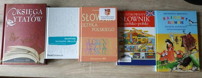 Zestaw pakiet 7 książek słowników encyklopedii