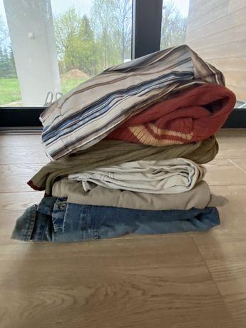 Ubrania meskie rozmiar L (spodnie, swetry)