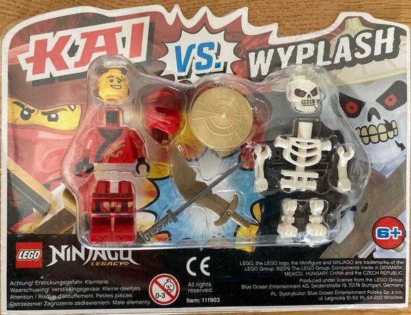 Lego NINJAGO 2 figurki KAI vs WYPLASH – oryginalne