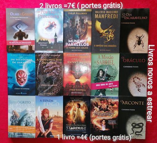 SALDOS-Literatura fantástica-Novos a estrear-2 livros=7€-Portes grátis