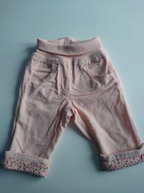Sztruksy spodnie 62 dla dziewczynki