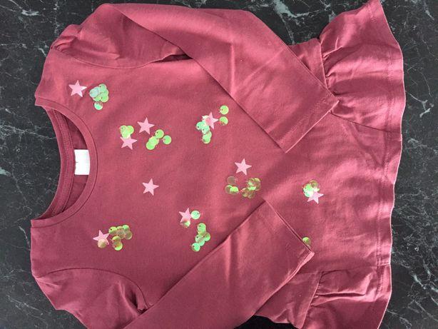 Bluzka,bluzeczka z długim rękawem ,rozmiar 98,C&A