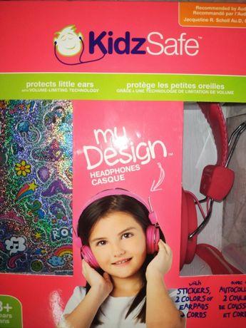 Наушники Kiidz Safe для девочки от 3-х лет