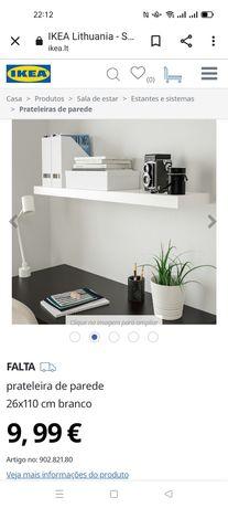 Estante de parede, Lack IKEA. Nova