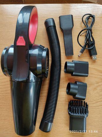 Автомобільний пилосос USB шнур з насадками 180W
