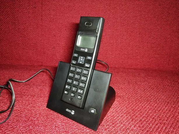 Telefon stacjonarny bezprzewodowy Doro Czarny Tanio