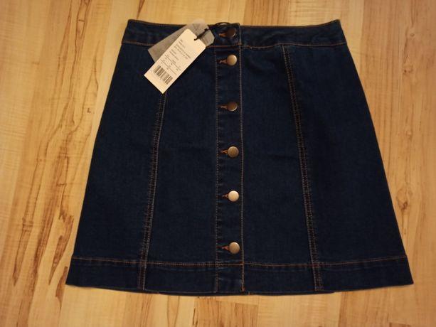 Zalando Essentials Spódnica trapezowa - mid blue denim Rozmiar: 34