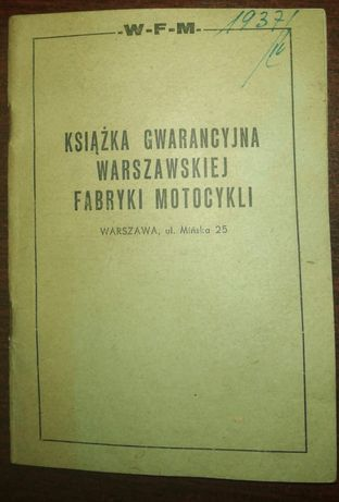 Książeczka gwarancyjna wfm 1960 i 1964