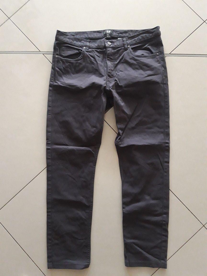 H&M męskie spodnie ciemny szary grafit r. 34