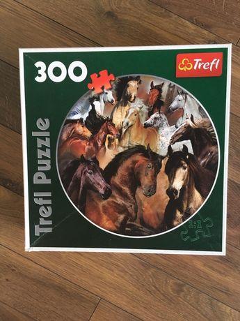 Puzzle Trefl okrągłe konie 300 elementów