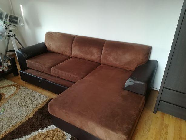 Duża kanapa rogówka