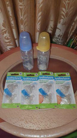Бутылочка для кормления BABYLOVE BABY LOVE соска носик силикон