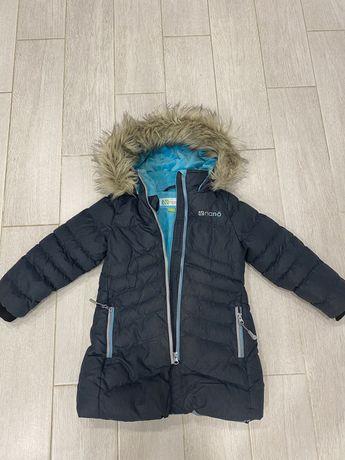 Зимнее пальто для девочки NANO F18 M 1252 Dk Gray Mix , 104-110